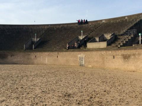Het Amphitheater vanaf het gevaarlijke deel.