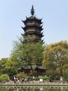 Een pagode ofwel boeddhistische tempel.