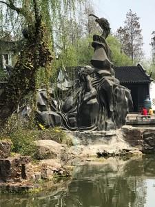 Prachtig en enorm bronzen beeld. Zoe volgende foto.