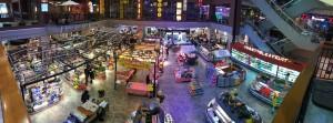 Naar dit wikelcentrum om te eten. Bijna elke mall heeft op de bovenste verdieping(en) restaurants.