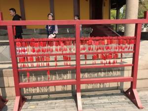 Oeps, deze hoort bij de tempel. Het zijn wensen en gebeden die je daar kunt ophangen.